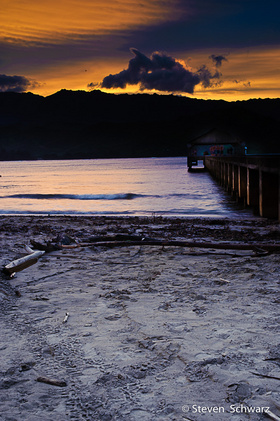 Sunset at Hanalei Pier